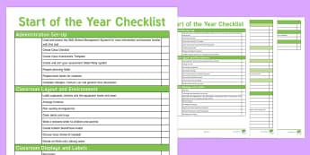 NZ Teachers' Start of Year Checklist - New Zealand Back to School, PRT guidance, PRT help, setting up a classroom, new classroom, classroom