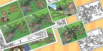 Monkey King Visual Aids 4xA4 - monkey king, visual, aids, display