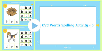 CVC Words 'O' Spelling PowerPoint - CVC Words U Spelling PowerPoint - cvc, words, u, spelling, powerpoint, cvcwords, speeling, cvc wods,