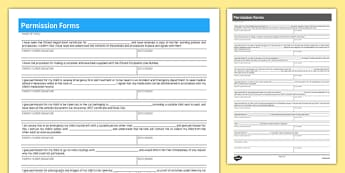 Permission Forms for Childminders - childminders, policy, forms