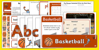 Rio 2016 Olympics Basketball Resource Pack - Basketball, Olympics, Olympic Games, sports, Olympic, London, 2012, resource pack, pack resources, activity, Olympic torch, events, flag, countries, medal, Olympic Rings, mascots, flame, compete