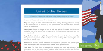 United States Heroes Fact File