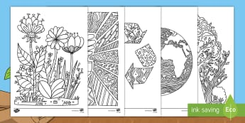 Earth Day Mindfulness Colouring Pages English/Mandarin Chinese - Earth Day Mindfulness Colouring Sheets - earth day, mindfulness, colouring sheets, colouring, sheet,