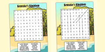 Kensuke's Kingdom Differentiated Wordsearch - word games, literacy