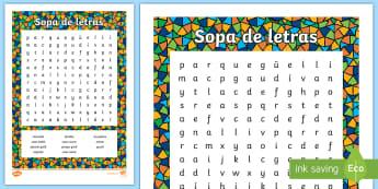 Sopa de letras: Gaudí - Gaudí, modernismo, arte, proyecto de arte, arquitectura,Spanish