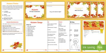 Elderly Care - Autumn Resource Pack - Autumn, Seasons, Display, September, October, November, Leaves, Harvest, Activity Co-ordinators, Sup