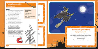 EYFS Flying Broomstick Science Experiment and Prompt Card Pack