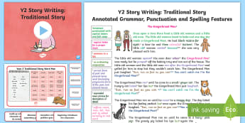 Y2 Story Writing: Traditional Model/Example Text - Example Texts Y2, Story Writing, exemplification, WAGOLL, exemplification, moderating, moderation, ARE, age-related example, model, model text, age-related model
