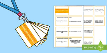 Lanyard Sized Foundation Phase Profile Reading and Writing Numbers Skill Ladder Cards -  Lanyard Foundation Phase Outcomes, Foundation Phase, Foundation Phase Profile, FPP, Wales, Assessme
