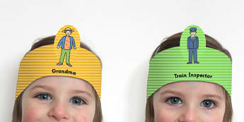 The Train Ride Role Play Headbands - roleplay, props, stories