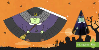 Personnages côniques pour Halloween : La sorcière - Sorcier, Sorcière, Magie, Halloween, arts plastiques, composition en volume, Cycle 1, Cycle 2,Frenc