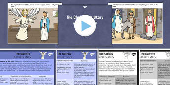 The Nativity Sensory Story Pack - the nativity, sensory story, story, sensory, christmas, nativity, pack