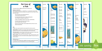 KS2 Pet Care of Fish Differentiated Fact File - KS2 National Pet Month (April 2017), fish, pets, pet fish, taking care of fish, looking after fish,