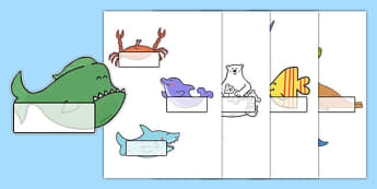 Editable Self-Registration Labels to Support Teaching on Commotion In The Ocean - Self registration, register, Story, book, resources, Giles Andreae, David Wojtowycz, editable, labels, registration, child name label, printable labels