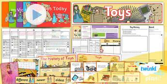 PlanIt - History KS1 - Toys Unit Pack - planit, toys, unit, pack