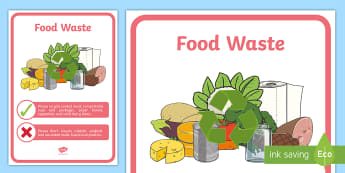 Recycling Food Waste Display Poster - tidy kiwi, New Zealand, rubbish, recycling, Years 1-6, food waste, display poster