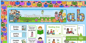 EYFS Reading Area Classroom Set Up Pack - reading area, classroom