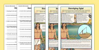 Czytanie ze zrozumieniem Życie w starożytnym Egipcie - polish, polski, czytanie, rozumienie, ze zrozumieniem, Egipt, egipcjanie, starożytny, starożytni,