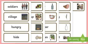 Stone Soup Word Cards - stone soup, word cards, word, cards