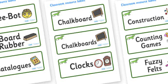 Iguana Themed Editable Additional Classroom Resource Labels - Themed Label template, Resource Label, Name Labels, Editable Labels, Drawer Labels, KS1 Labels, Foundation Labels, Foundation Stage Labels, Teaching Labels, Resource Labels, Tray Labels, P