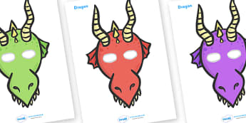 Dragon Role Play Masks - role play mask, role play, dragon, dragons and knights,
