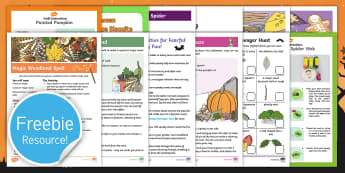Halloween Family Fun Activity Pack - half term, activities, parents, autumn, days out, days in