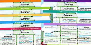 EYFS Summer Themed Lesson Plan and Enhancement Ideas - summer