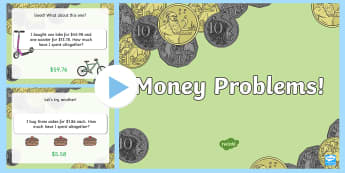 Money Problems Task Setter PowerPoint - australia, money, task