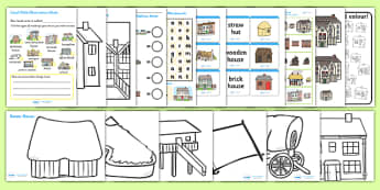 Houses and Homes Activity Pack - house, home, activities, games