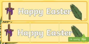Happy Easter Display Banner - Australian Requests, easter display banners, display banners, happy easter banner, happy easter post