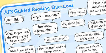 AF3 Guided Reading Question Mat - assessment focus 3 mat, af mat, af3 mat, assessment focus questions, af3 questions mat, assessment focus reading mat, af3