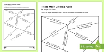 e Reo Māori Greetings Puzzle Activity Sheet Te Reo Maori/English sh - Greetings, Te Reo Maori, Puzzles, Mihi, new zealand, match cards