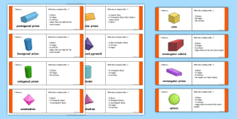 3D Shape Properties Loop Cards - 2d shape, 3d, shape, properties, loop cards, loop, cards, activity, maths, mathematics