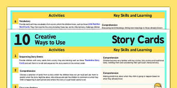 10 Creative Ways To Use Story Cards Sheet - story, cards, use