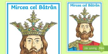 Mircea cel Bătrân - istoria românilor, planse, domnitori, Stefan cel Mare, Mircea cel Bătrân, Iancu de Hunedoara, Vla