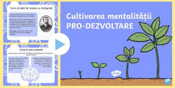 Mentalitate pro dezvoltare PowerPoint - emoții, automotivație, autocontrol, gândire pozitivă, managemnet comportamental, comportamente