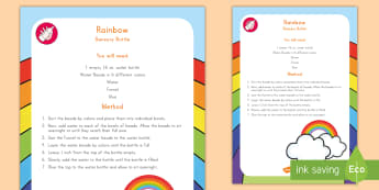 Rainbow Sensory Bottle - Rainbow, Weather, Sensory bottle, rainbow sensory bottle, weather sensory bottle