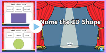 Name the 2D Shape Quiz PowerPoint - Shape, 2D Shape, Foundation Phase Profile, Numeracy, square, triangle, rectangle, circle, semi-circl