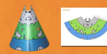 Halloween Cone Characters Werewolf - halloween, werewolf, cone