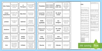 OCR 21st Century Chemical Patterns Loop Cards - Ernest Rutherford, isotopes, alkali metals, state symbols, displacement reactions,