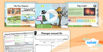 Science: Seasonal Changes (Autumn and Winter): Seasons Year 1 Lesson Pack 1