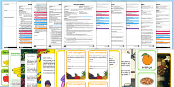 Food-Themed Adult Input Planning and Resource Pack - EYFS, Early Years Planning, Adult Led, topic plan, food, diet, nutrition, healthy eating, fruit and