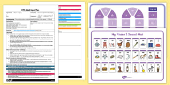 EYFS Phase 3 Sounds Phonics Board Game Adult Input Plan and Resource Pack - phases