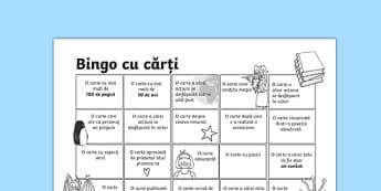 Bingo cu cărți - Fișă pentru activitate