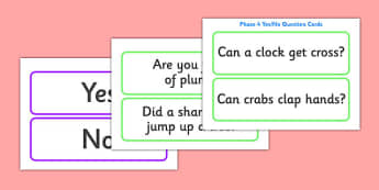Phase 4 Yes/No Question Cards - Question Cards, Letters and Sounds, Phase 4, Phase four, Foundation, Literacy, reading sentences, captions