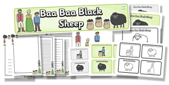 Baa Baa Black Sheep Resource Pack - baa baa black sheep, resource pack, pack of resources, themed resource pack, baa baa black sheep pack, nursery rhymes