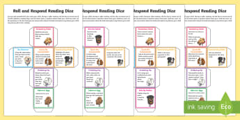 UKS2 Roll and Respond Reading Dice Nets - UKS2 Non-Fiction Roll and Respond Reading Dice Nets - comprehension, understanding, questioning, Y5,