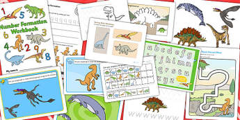 Dinosaur Themed Fine Motor Skills Resource Pack - ESL Dinosaur Resources