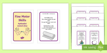 Fine Motor Skills Activities IKEA Tolsby Frame English/Romanian - Fine Motor Skills Activities IKEA Tolsby Frame - EAL, challenges, detail, steady, hand, puzzles, fin