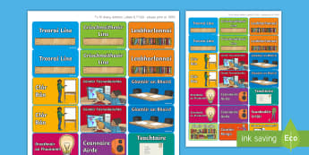 Lipéid Thaispeána: Poist an Ranga - Comharthaí Ranga, classroom signs, lipéid ranga, classroom labels, poist na seachtaine, weekly job